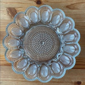 Vintage Deviled Egg Glass Tray